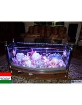 Akvatrend Ovális dohányzóasztal akvárium