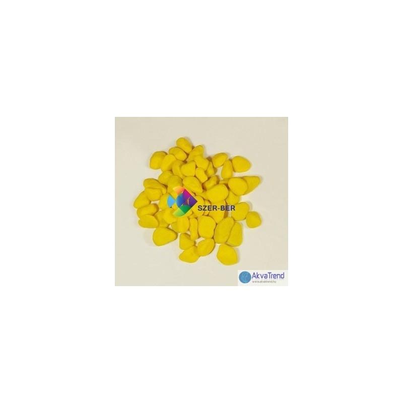 Színes kő akvárium aljzat 1 kg Sárga